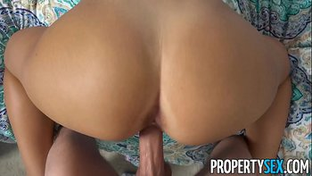PropertySex – Hot curvy blonde busted for smoking fucks roommate